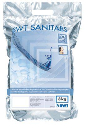 BWT Sanitabs. Salt til blødgøringsanlæg. 8 kg. pr. pose