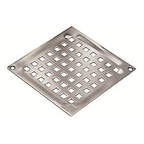 Blücher Square Vienna rist til gulvafløb med skruehuller 140x140 mm. Rustfrit stål