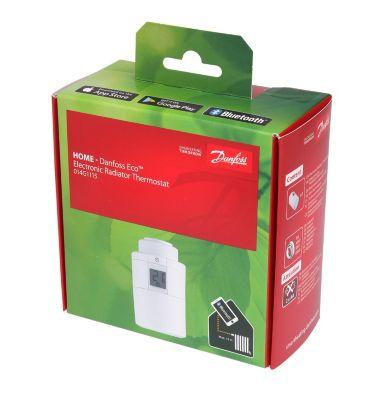 Danfoss Eco Home Bluetooth elektronisk radiatortermostat. Inkl. RA+RAV+RAVL+M30 ventiladapter. Ekskl. batteri. Blisterpack.