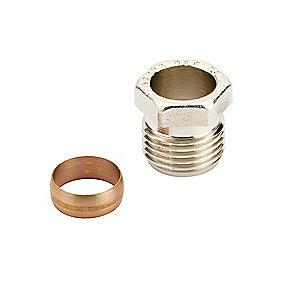 Danfoss Klemringsfittings 1/2''. 16 mm til stål- og kobberrørføring