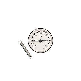 Erik Færgemann påspændingstermometer Ø63mm med påspændingsfjeder. 0-120 C