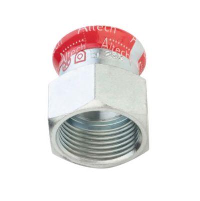 FZ press overgang med muffe 54mm x 2''. Til varmesystemer. M-bakke