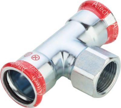 FZ press t-stykke med muffe 35-3/4''-35mm. Til varmesystemer. M-bakke
