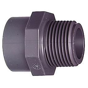 GF PVC Overgangsmuffe/-nippel 1.1/2'' - 50 mm R
