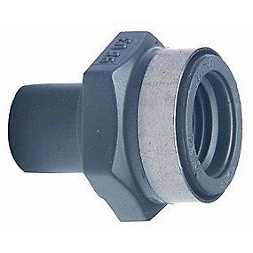 GF PVC Reduktionsnippel/-muffe 50 mm - 1.1/4'' Rp