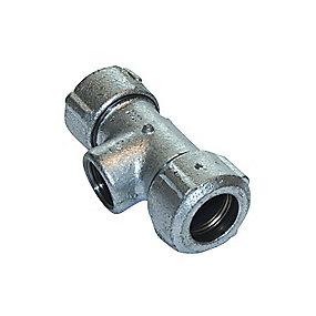 GF Primofit kompressionstee 1/2'' med muffe i gren. til stålrør
