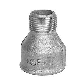 Georg Fischer spidsmuffe sort 3/4 - 3/8'' muffe - nippel