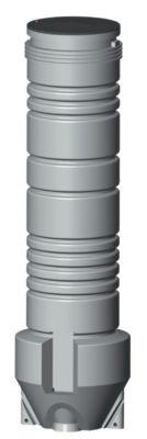 Grundfos knivpumpebrønd 600x2000mm 1x230V. SEG40.09 m. autokobl. 50mm tilsl.
