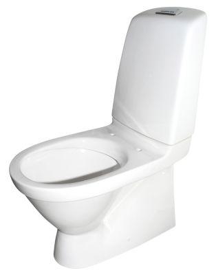 Gustavsberg Nautic 1500 toilet. Med åben skyllerand. Skjult S-lås og Hygienic Flush