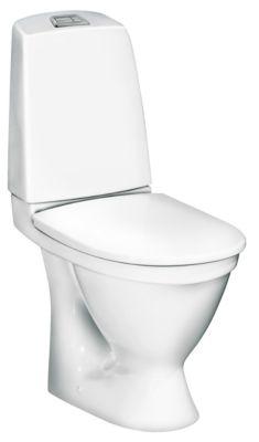 Gustavsberg Nautic Toilet 1510 Ceramicplus. Skjult P-lås. Hygienic Flush