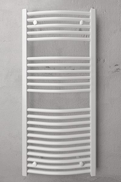Haandklaede radiator buet hvid Richmond