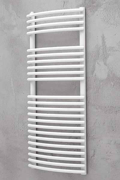Håndklæde radiator buet hvid - iridio