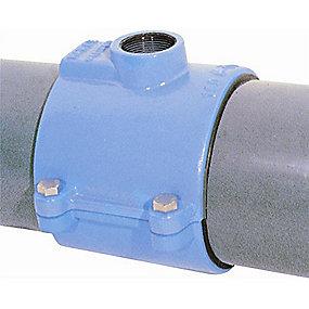 Hawle HAKU anboringsbøjle 63 mm x 1.1/4''. PN16. A2 bolte. Duktiljern