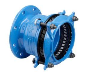 Hawle Synoflex flangekobling DN100 x 104-132 mm. PN16. Trækfast. A4 bolte. Duktiljern