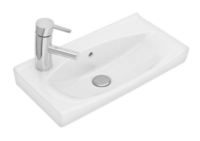 Ifö Spira håndvask 515 x 285 mm. Hanehul venstre. 15088