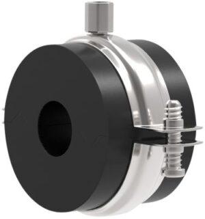 Isoglobal rørbærer RF 200 x 19 mm. M10/M12 inkl. Galv. HD bøjle og isolering. Til køl