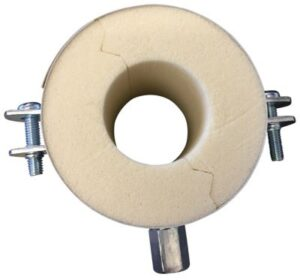 Isoglobal rørbærer vvs 35X40 mm. M8/M10 inkl. Galv. Bøjle og isolering.