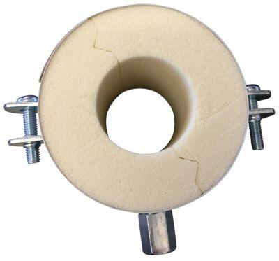 Isoglobal rørbærer vvs 54X40 mm. M8/M10 inkl. Galv. Bøjle og isolering.