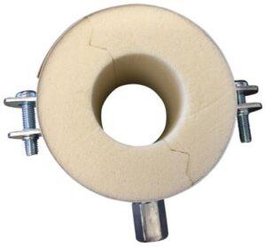 Isoglobal rørbærer vvs 76X40 mm. M8/M10 inkl. Galv. Bøjle og isolering.