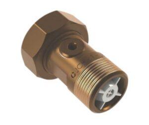 JCH 2286 vandmålerforskruning 1/2'' x 3/4'' x 40 mm. Inkl. kontrollerbar kontraventil. Rødgods