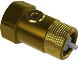 JCH 2297 kontraventil 1'' x 60 mm med 2 kontrolpropper. Kontrollerbar