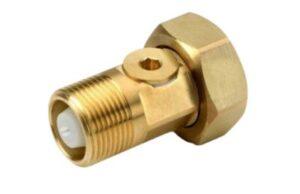 JCH vandmålerforskruning med kontraventil 1'' x 3/4'' L=80mm.
