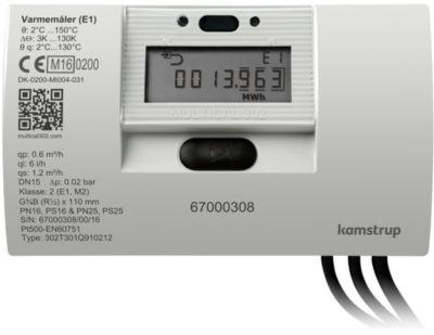 Kamstrup MULTICAL302 varmemåler 110 mm x 3/4''. Retur. batteri. 1