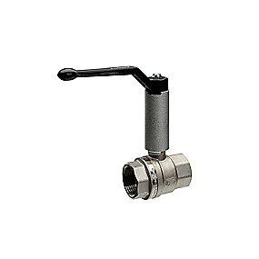 Mercury TEA 1.1/2'' kugleventil. Muffe-muffe med håndtag og påmonteret spindelforlænger