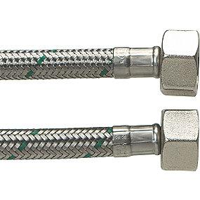 Neoperl Softpex tilslutningsslange 1000 mm 1/2 L x 1/2 L. Rustfri flet. Koldt & varmt vand. NEOFLEXSPX DN8
