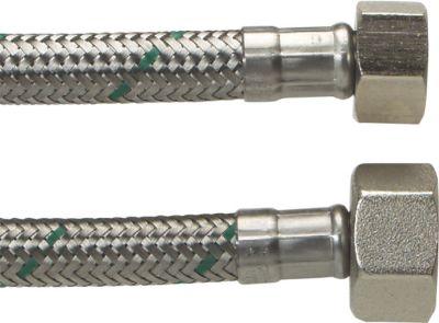 Neoperl Softpex tilslutningsslange. 400 mm. 1/2 L x 3/8 L. Rustfri flet. Koldt & varmt vand. NEOFLEXSPX DN8