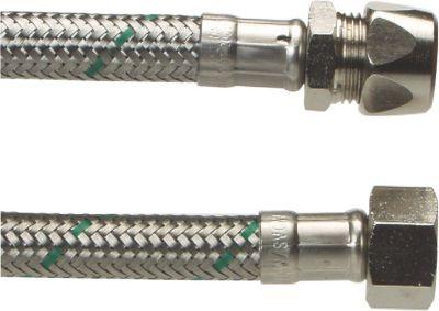 Neoperl Softpex tilslutningsslange 500 mm. 10 mm x 3/8 L. Rustfri flet. Koldt & varmt vand. NEOFLEXSPX DN8