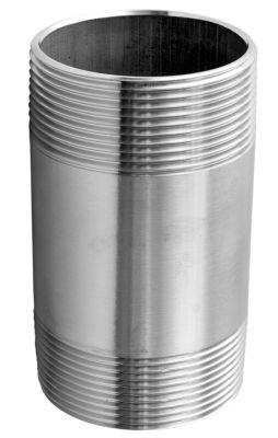 Nippelrør 3'' x 120 mm. Rustfri AISI 316
