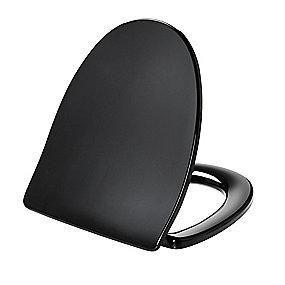 Pressalit Sign 624 toiletsæde med soft close & lift-off inkl. beslag i rustfrit stål. Sort