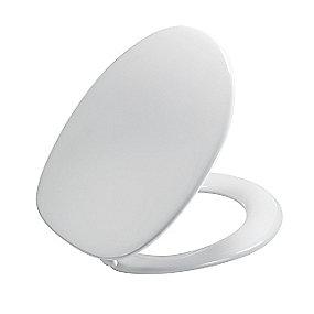 Pressalit Zaga 314 Standard toiletsæde inkl. beslag i rustfrit stål. Hvid