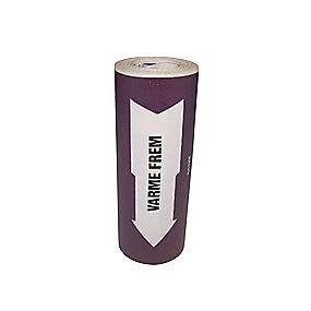 Rørmærkning 160mm x 10m violet ''Varme fremløb''