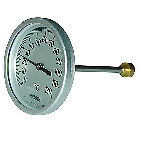 Rüeger TCH termometer 100x200 mm. Rustfrit stål