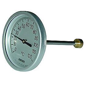 Rüeger TCH termometer 80x125 mm. Rustfrit stål