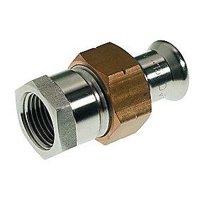 VSH XPress rustfri press union med muffe 54 mm x 2'' M-bakke