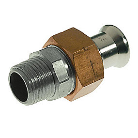 VSH XPress rustfri press union med nippel 35 mm x 1.1/4'' M-bakke