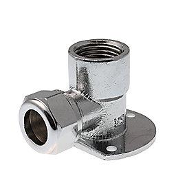 VSH forkromet kompresions-dækvinkel 1/2'' - 15 mm