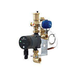 Wavin parallelshunt med Alpha2 15-40 pumpe. 2-8 kredse. Anvendes til gulvvarme op til 120 m2