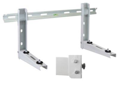 vægkonsol med vægskinne og niveaupas til luft-luft varmepumpe.
