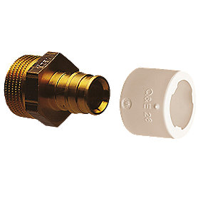 Uponor Quick & Easy overgangsnippel 1/2''x 15 mm