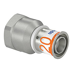 Uponor S-Press PLUS kobling med muffe 20 mm x 3/4''