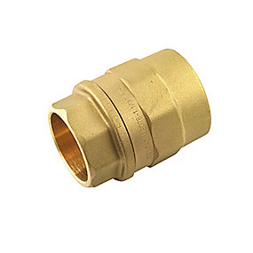Isiflo overgang med muffe 25 mm x 1''