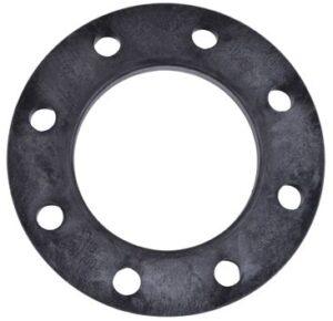 Wavin flange med stålindlæg 200/200 mm. PN16. sort PP