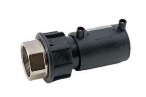 Uponor Fusamatic PE EL-overgangsmuffe 50mm x 1.1/2'' PN16. SDR11. 40v. 4
