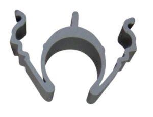 Rilleclips PRO til 20mm rør Til fastgørelse af rør i udfræste riller. pose a 25stk.