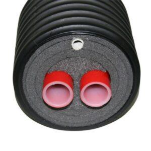 præ-isoleret fjernvarme dobbelt pex rør 28x4