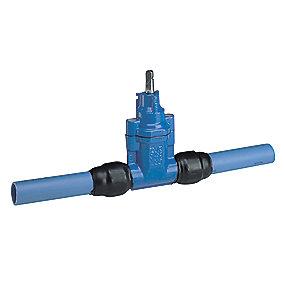 AVK stikledningsventil med PE ben 63 mm PN16. Duktiljern